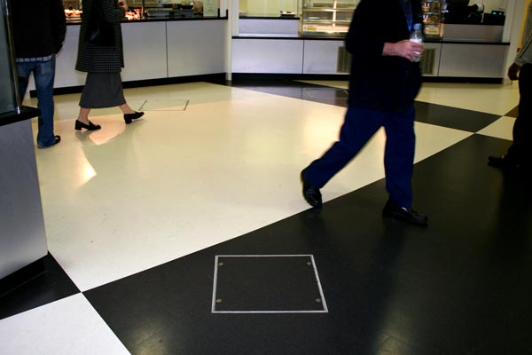 Flexible flooring access cover from Howe Green at Queens Hospital, Romford