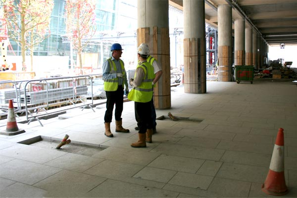 1050 series Howe Green heavy duty floor access cover at Terminal 5, Heathrow Airport, London