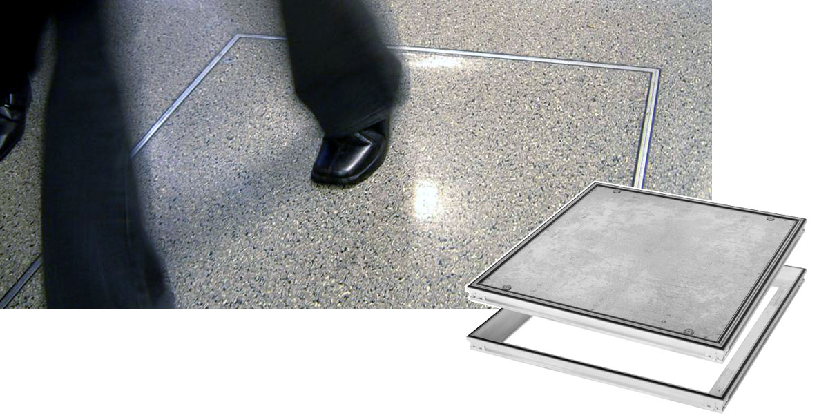 Flexible Floor Access Covers | Queens Hospital, Romford