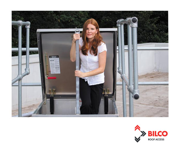 LADDER UP safety post from Bilco UK